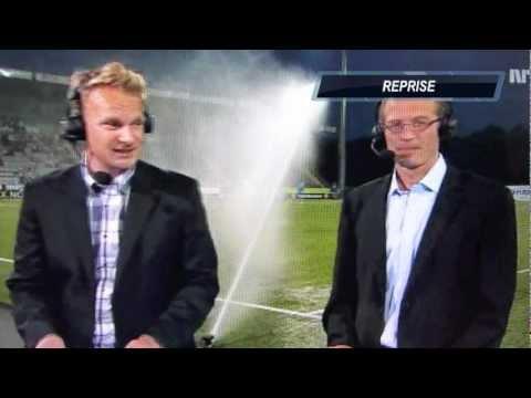 Ufrivillig dusj på direkten på NRK