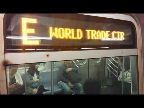 IND Sixth Avenue Line: Downtown & Uptown R160 (E) (F) Trains @ 57th Street
