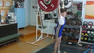 Шумихин Артур, 10 лет, св 28 Толчок 27 кг  2рх6 кг