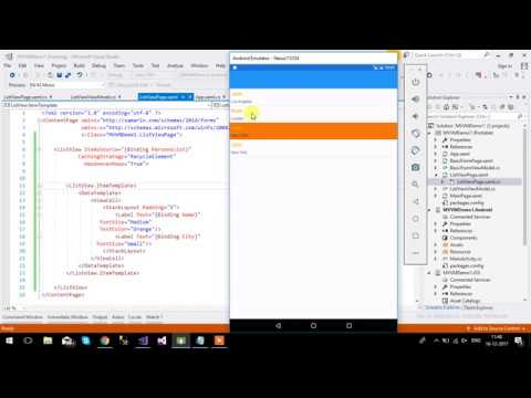 hqdefault Xamarin Forms List View Example on forms listview, settings page, forms search box, forms master-detail, profile codes, forms filtering, shell title view, tablet application, forms navigation, login page border, custom renderer,