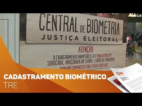 TRE convoca eleitores para cadastramento biométrico - TV SOROCABA/SBT