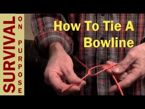 How To Tie A Bowline - Survival Knots - Boy Scout Knots