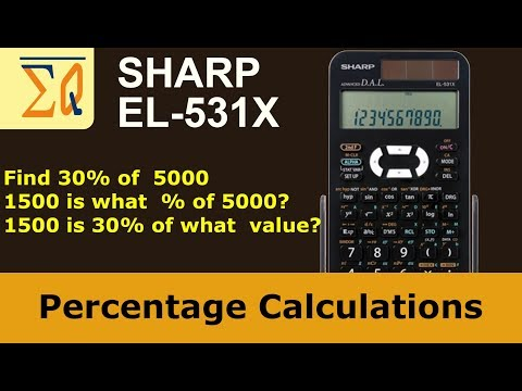 Sharp EL-531X  Calculate percentage in 3 ways with pen and calculator