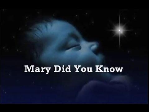 Mary Did You Know Kids Lyrics - YouTube