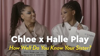 """Chloe x Halle Play """"How Well Do You Know Your Sister?""""   POPSUGAR Pop Quiz"""