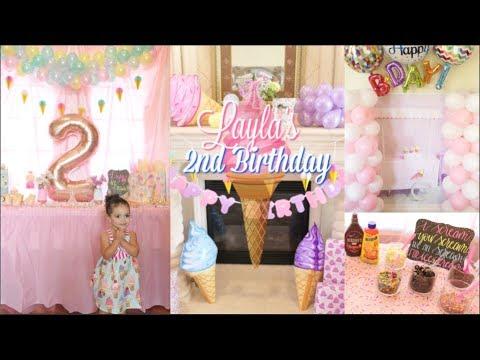 2nd Birthday Party Ice Cream Theme Youtube