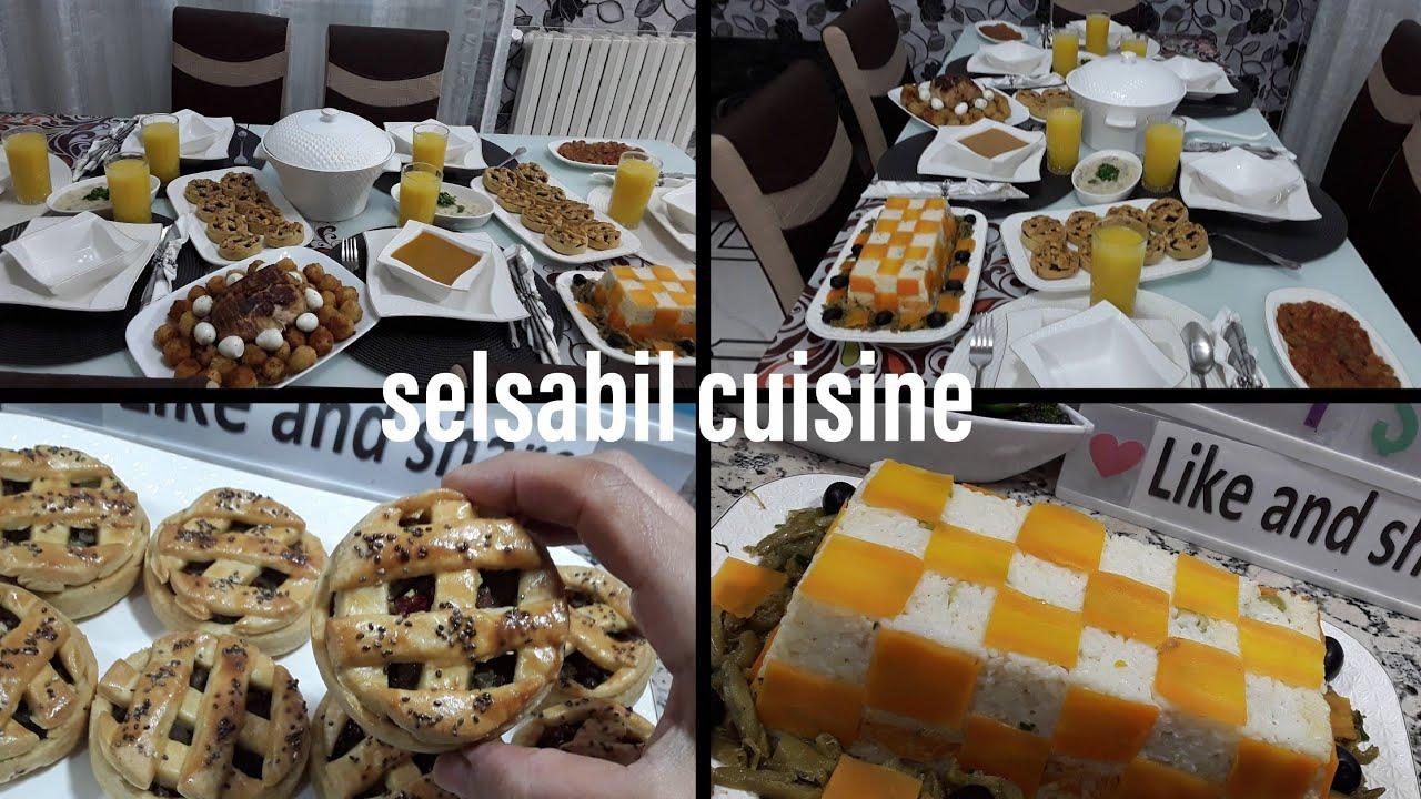 مائدة إفطار اليوم الثاني من رمضان 2019 مع أفكار للتقديم وتحضير مملحات بشكل جديد/دجاج محشي/صلصة بيضاء