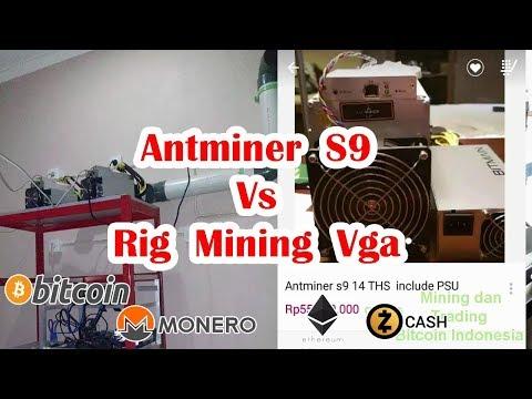 Pilih mana Antminer S9  atau Rig Mining Sendiri