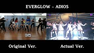 EVERGLOW - Adios (Actual vs Original Choreography Comparison)