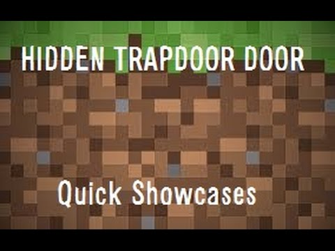 how to make a hidden trapdoor in minecraft