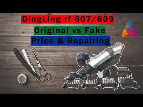 Dingling Rf 609/607 professional hair trimmer Review |Unboxing |Price |Original vs fake |repairing