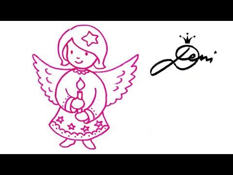 engel-malen-❄️-wie-zeichnet-man-schnell-ein-engelchen-👸🏼-how-to-draw-an-angel-👧🏼рисува-ангелче