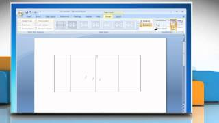 Microsoft® Word 2007: How to draw a table on Windows® 7?