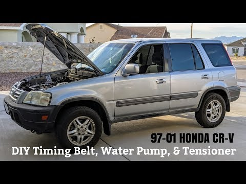 How To Replace Timing Belt & Water Pump on 97-01 Honda CRV