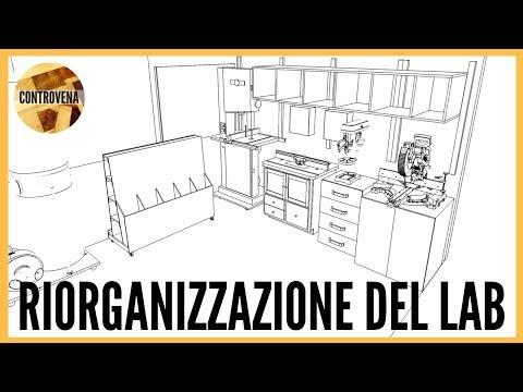 Progetto 3D in Sketchup del Laboratorio | Riorganizzare il LAB #0 - falegnameria legno