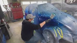 VW Bug Garage Paint Job.  Not a How to