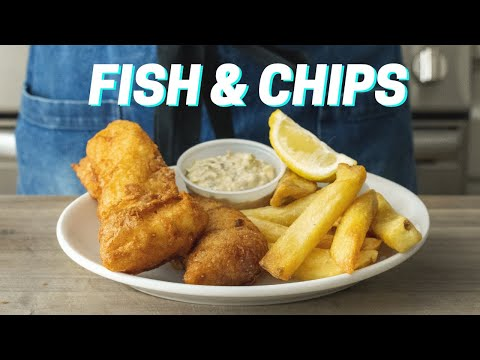 Crispy Homemade FISH AND CHIPS Recipe - ZHC