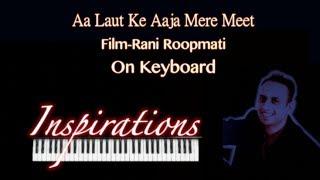 aa laut ke aaja mere meet-Rani Roopmati-on keyboard