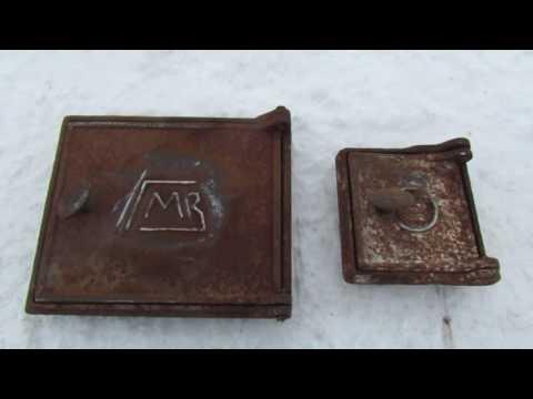 чугунные дверцы от печки ГМЗ СССР