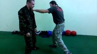 Видеоурок 16.Контур на растяжение..РУБИ-Русское боевое искусство(русский стиль рукопашный бой)
