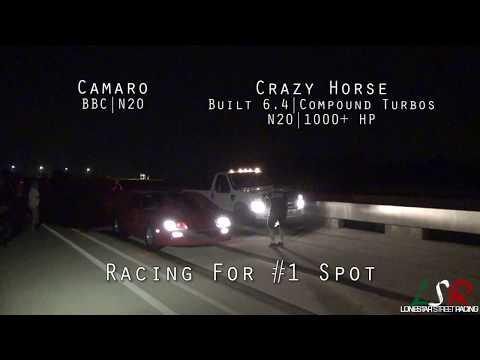 1000+ HP Powerstroke vs N20 BBC Camaro & C10 + Focus RS, Turbo Civic, TVS Cobra!
