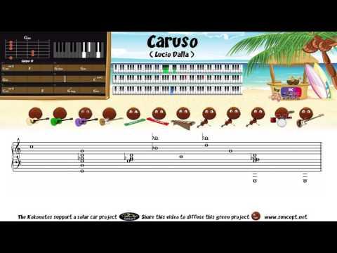 How to play : Caruso (Lucio Dalla) - Tutorial / Chords / Score / Cover