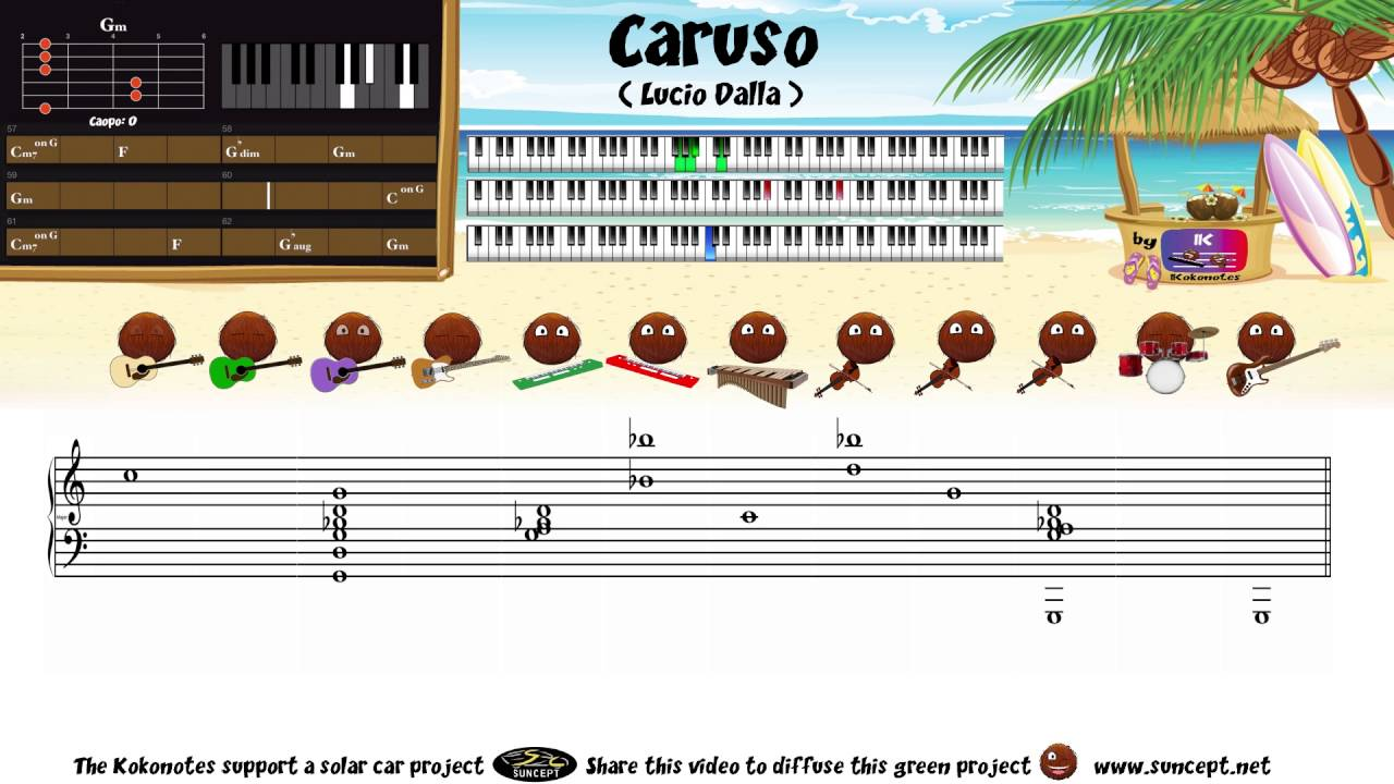 arriving 2018 shoes outlet How to play : Caruso (Lucio Dalla) - Tutorial / Chords ...