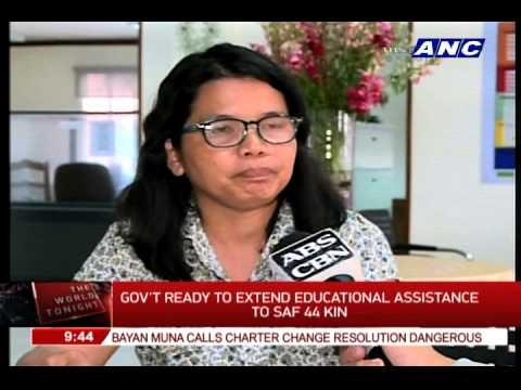 Gov't offers scholarships to SAF 44 kin