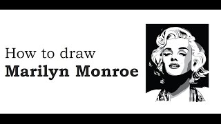 How to draw Marilyn Monroe face  drawing step by step