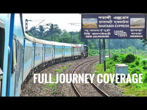 New Jalpaiguri - Howrah Shatabdi Express Full Journey | Diverted Shatabdi Express| Economical Class