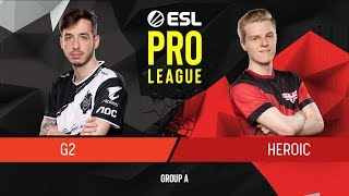 CS:GO - G2 Esports vs. Heroic [Dust2] Map 2 - Group A - ESL Pro League Season 9
