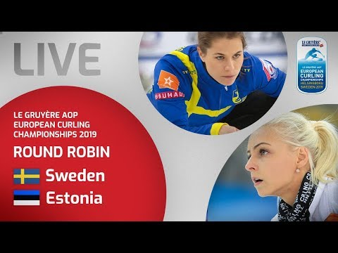 Sweden v Estonia - Women's round robin - Le Gruyère AOP European Curling Championships 2019