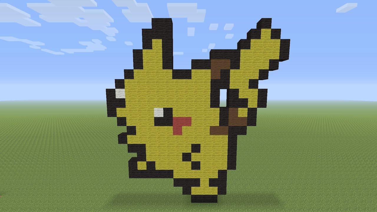 Minecraft Pixel Art Pikachu Pokemon 025
