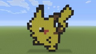 Minecraft Pixel Art - Pikachu Pokemon #025