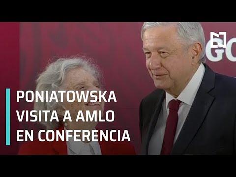 Poniatowska visita a AMLO en conferencia matutina - Expreso de la Mañana