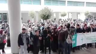 كلية الصيدلة بالجزائر العاصمة اليوم ... الطلبة  يواصلون الاضراب
