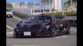 【超貴重】大黒PAにマクラーレンP1現る Midnight purple McLaren P1 in Japan.