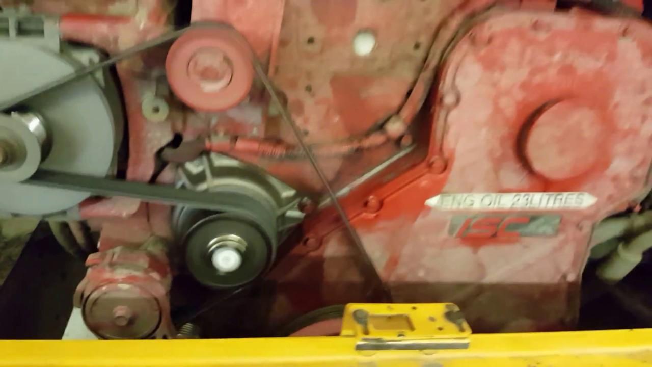 cummins isc diesel engine running youtube