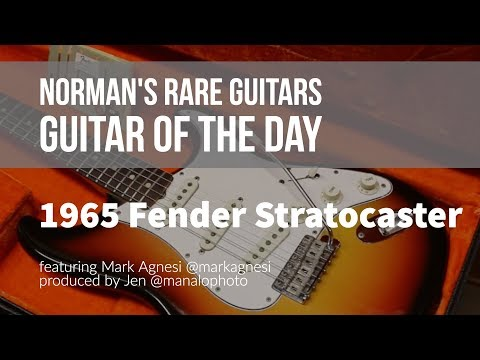 Norman's Rare Guitars - Guitar of the Day: 1965 Fender Stratocaster