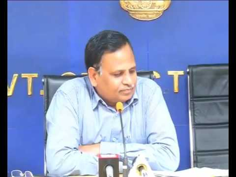 Urban Development Minister Satyendar Jain Press Conference