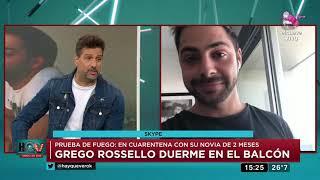 Grego Rossello En Cuarentena Con Su Novia De 2 Meses