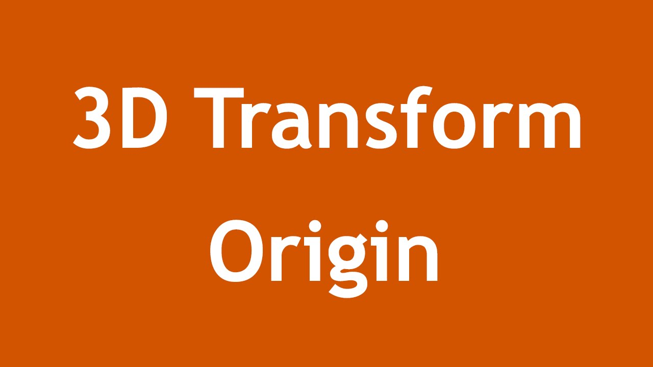 [ Css3 In Arabic ] #20 - 3D Transform - Transform Origin, Style