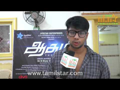 Irfhan at Aagam Movie Team Interview
