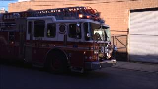 FDNY RESPONDING, ON SCENE & LEAVING SITE OF A CALL IN THE TREMONT AREA OF THE BRONX, NEW YORK CITY.