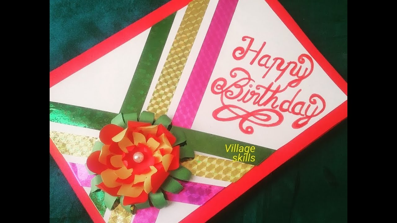 how to make happy birthday greeting carddiy greeting card ideasnew year greeting cards making idea
