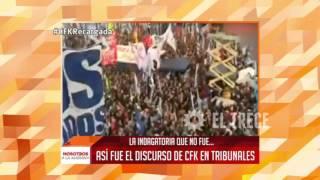 Mirá las mejores frases del discurso de Cristina Fernández en Comodoro Py