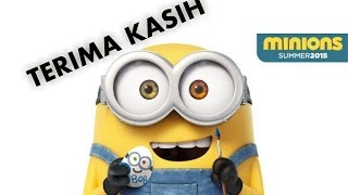 """Minions (2015) : Bob say """"THANKS"""" in Indonesian to the Queen"""