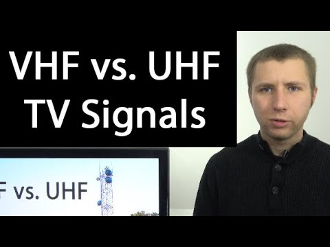 VHF Vs. UHF TV Bands - Antenna TV Viewers Should Know The Difference
