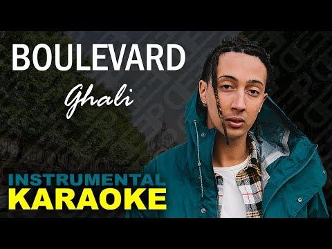 Ghali: BOULEVARD (Karaoke - Instrumental)