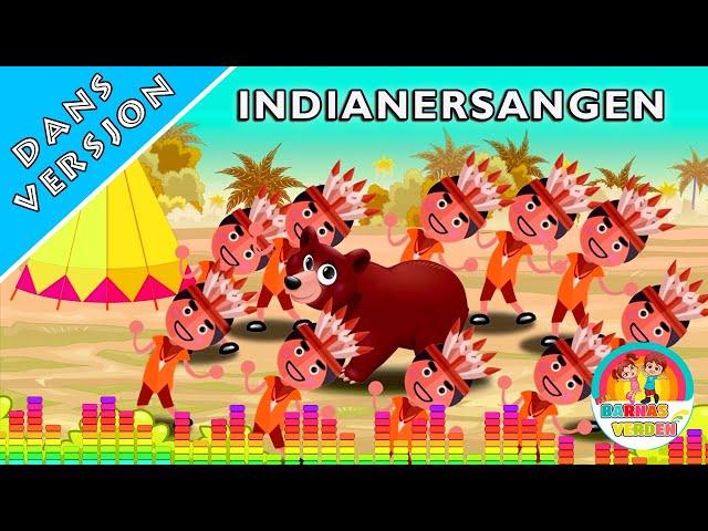Indianersangen En og to og tre indianere  | Dans Versjon | Norske Barnesanger l barnesanger på norsk